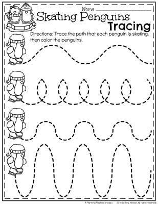 winter pattern worksheets for kindergarten december preschool worksheets preschool ps and december