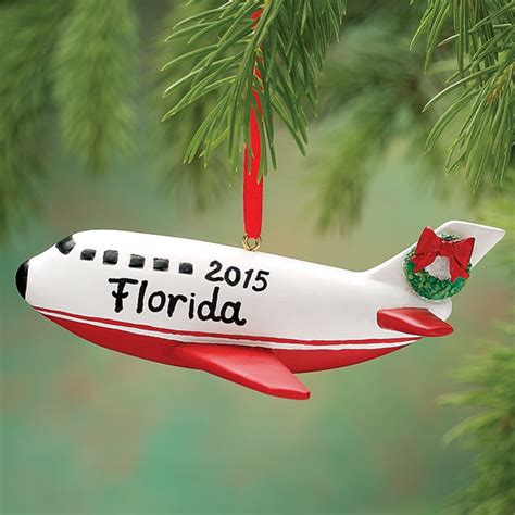 personalized airplane ornament airplane ornament miles
