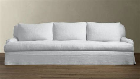 restoration hardware belgian linen sofa 10 easy pieces the perfect white sofa remodelista