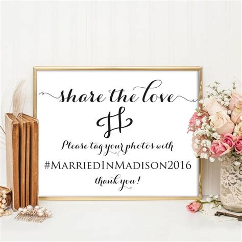 wedding hashtag sign wedding hashtag printable hashtag
