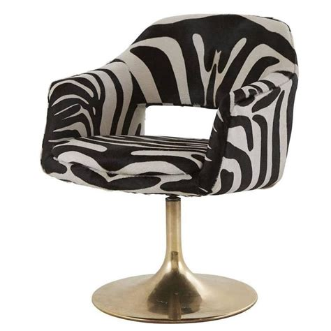 Vintage Zebra Swivel Chair At 1stdibs Zebra Swivel Chair
