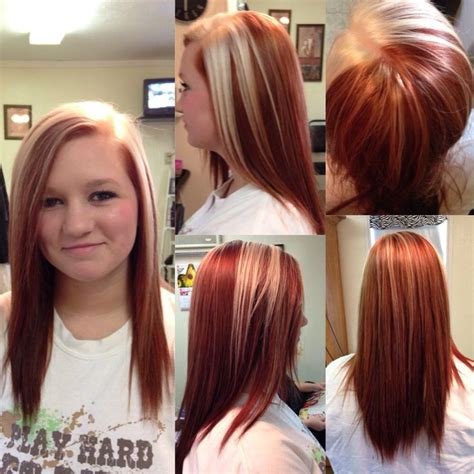 accent highlights copper base color with a platinum accent and highlights by