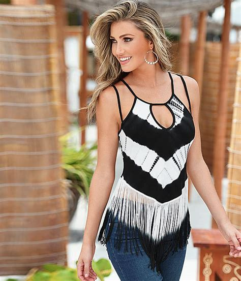 Casual Top Stripe Bunny Sgin Size S M L Gaul Populer 43006 wlke crop tops sleeveless spaghetti striped printed tassel tops camis