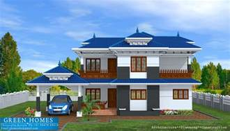 green homes green homes kerala model home in 2400 sq