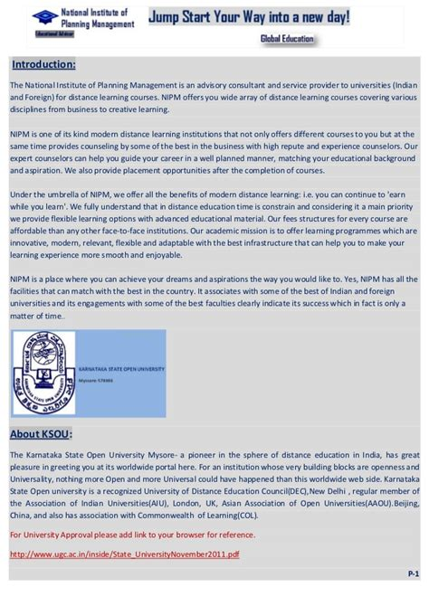 What Is Fast Track Option In Mba Program by Courses National Institute Of Planning Management