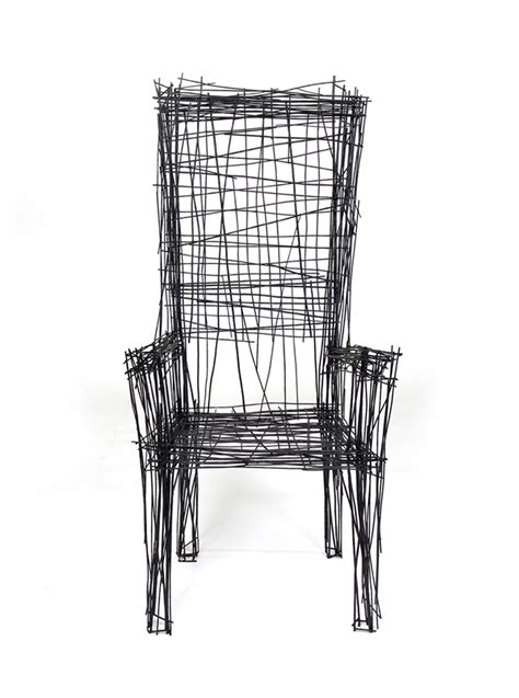 Wire Armchair Jinil Park Materializes Drawing Furniture Series Using Wire