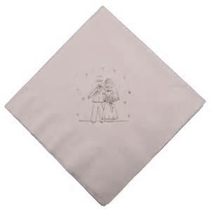 wedding napkins groom white wedding napkins threelittlebears co uk