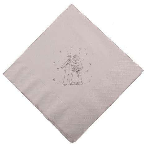 Wedding Napkins by Groom White Wedding Napkins Threelittlebears Co Uk