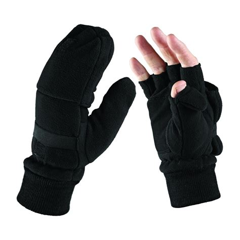 Glove Mpact Half Fingger Od dickies half finger removable cap gloves mittens