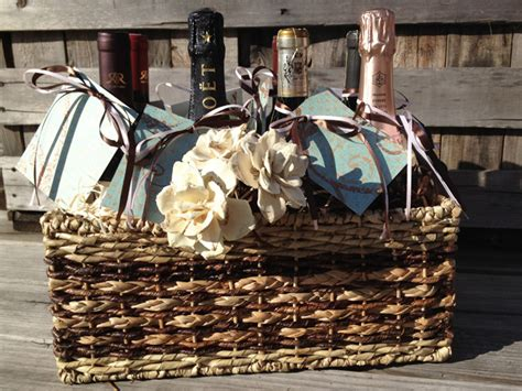 wedding gift wine for occasions bridal shower or wedding gift wine basket with a