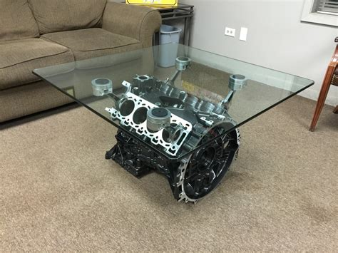 V8 Engine Block Coffee Table V8 Engine Block Coffee Table