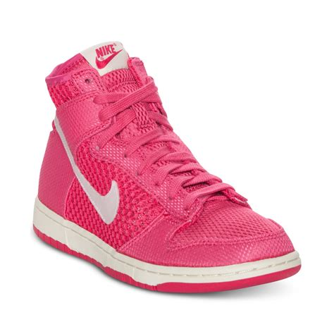 pink nike sneakers for nike dunk high casual sneakers in pink pink