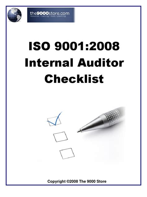iso 9001 internal audit checklist