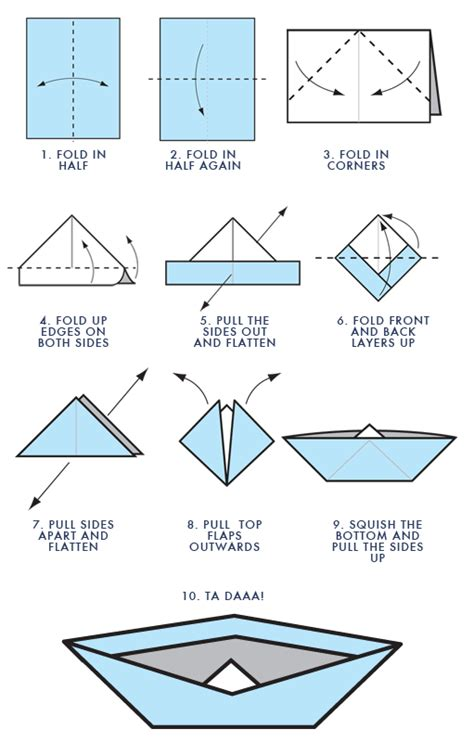 How To Make An Easy Paper Boat - steps to build a paper boat sailboats for sale wooden