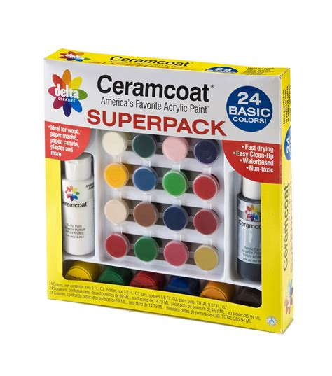 ceramcoat acrylic paint superpack basic colors jo