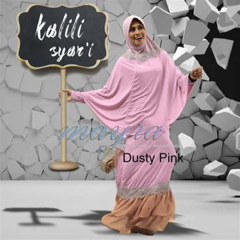 pusat grosir baju gamis samara syari jersey dusty pink kalili syar i dusty pink baju muslim gamis modern