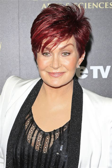 back view of sharon osbourne haircut dlisted sharon osbourne behaves badly at the the 41st