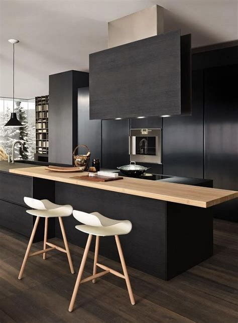 Black Wooden Stools Kitchen by 25 Best Ideas About Wooden Kitchen Cabinets On