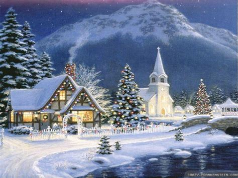 free wallpaper village christmas village wallpapers wallpaper cave