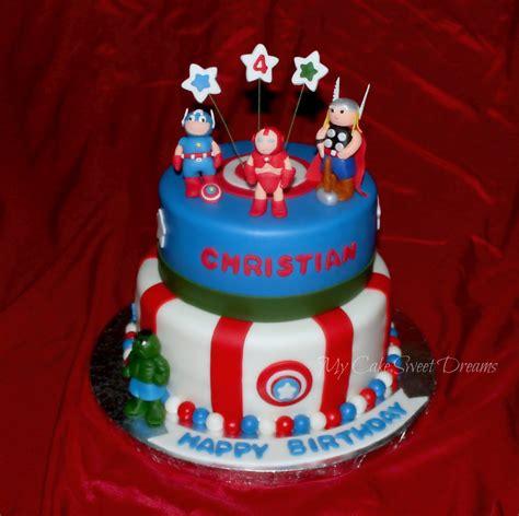 """My Cake Sweet Dreams"": Avengers Birthday Cake"