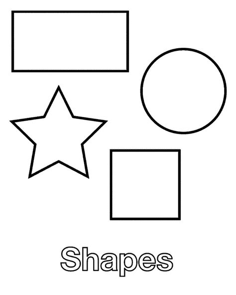 shaped templates free printable shapes coloring pages for
