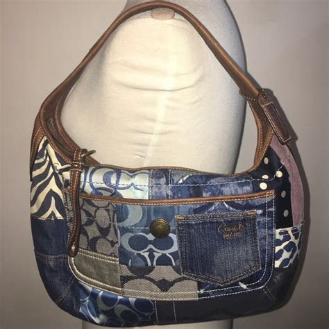 Coach Denim Patchwork - 80 coach handbags authentic coach denim patchwork