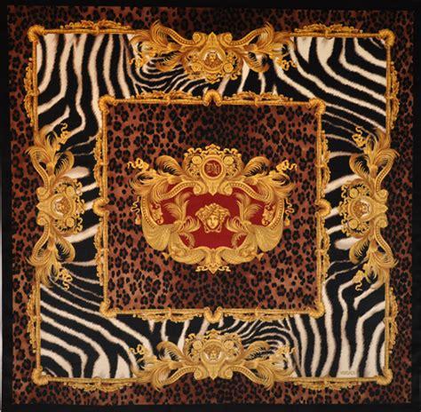Versace Fabric Upholstery by Versace Medusa Zebra Velvet Fabric Panel Throw 54 Quot Ebay