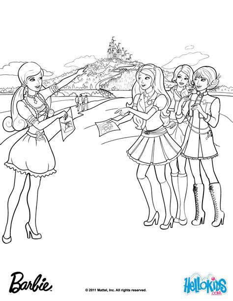 Blair And Friends At School Coloring Pages Hellokids Com Coloring Pages Princess Charm School