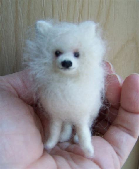 white miniature pomeranian pin by sue sizemore on needle felted items