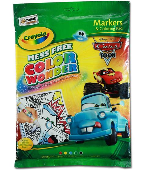 crayola coloring pages cars 2 crayola disney cars 2 mess free color markers