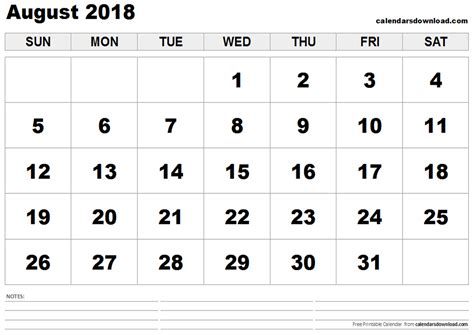printable calendar august 2018 august 2018 printable calendar blank calendar templates