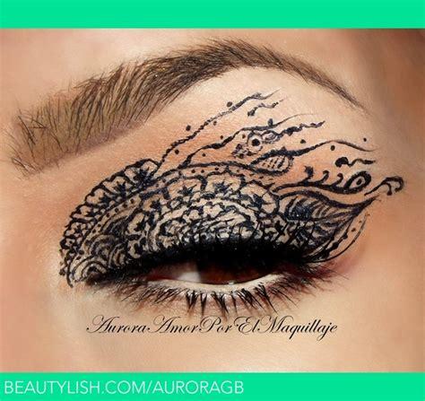 henna tattoo eyeliner henna lace auroramakeup a s auroramakeup photo