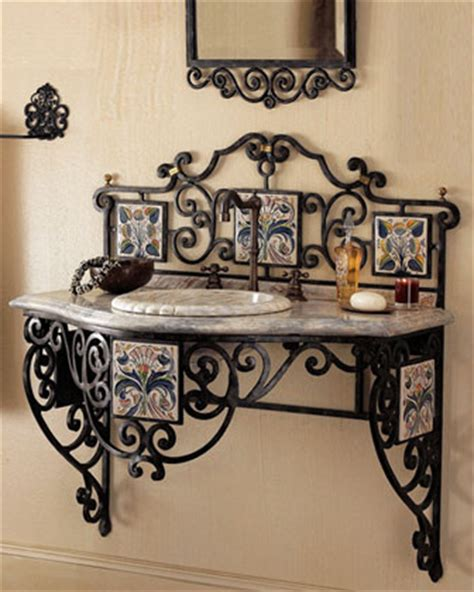 Wrought Iron Bathroom Furniture Maitland Smith Iron Scroll Vanity Traditional Bathroom Vanities And Sink Consoles By Horchow