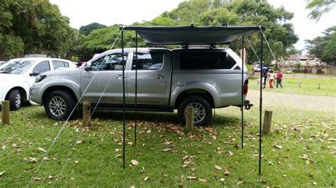 diy 4x4 awning diy awning tent on my legend 45 hilux 4x4 ideas