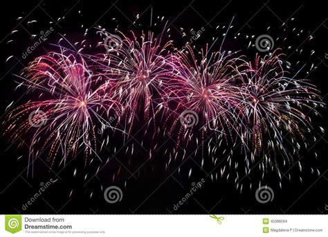 new year fireworks time fireworks show stock photo image 45388594