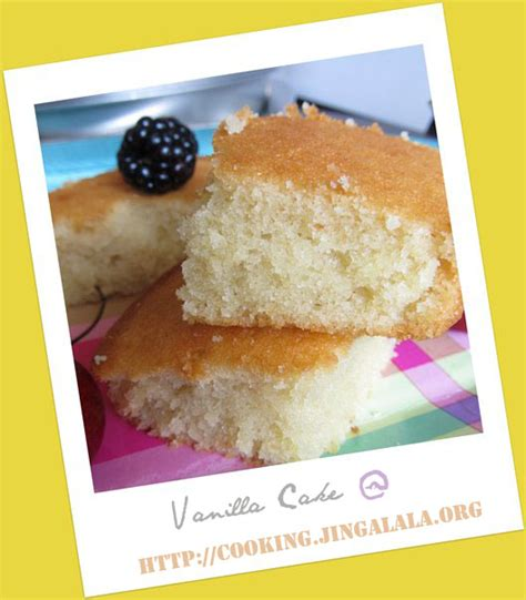 basic vanilla cake recipe how to make bake vanilla cake cooking jingalala