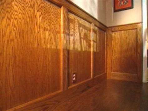 stained wood panels how to cut stain and install wainscoting panels