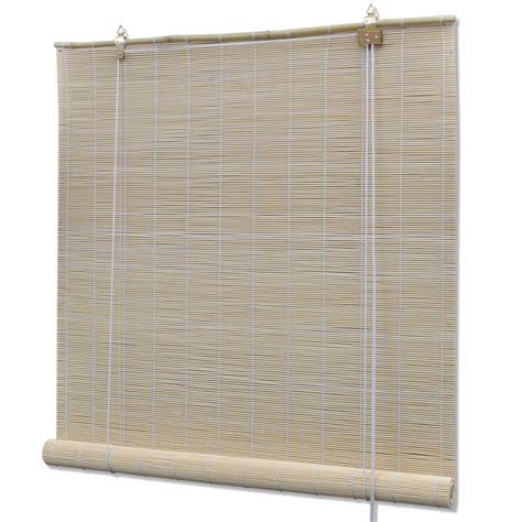 Bamboo Roller Blinds Vidaxl Co Uk Bamboo Roller Blinds 80 X 160 Cm