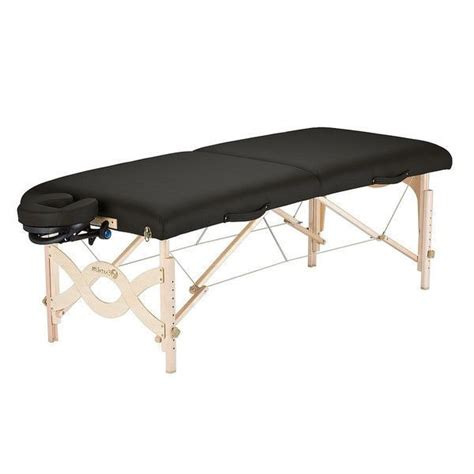 black natursoft upholstered portable massage table with