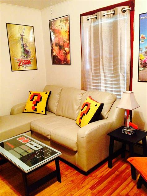 gamers living room nintendo themed room house videogames and free