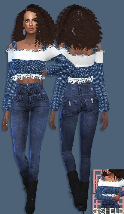 Shoulder Blouse Salem 11 best sims 4 custom content images on