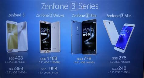 Asus Laptop Price Singapore asus zenfone 3 and zenfone 3 ultra launch in singapore deluxe coming september hardwarezone