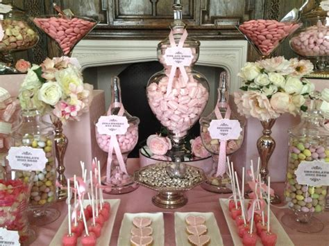 wedding candy buffet in vintage pink candy buffets l