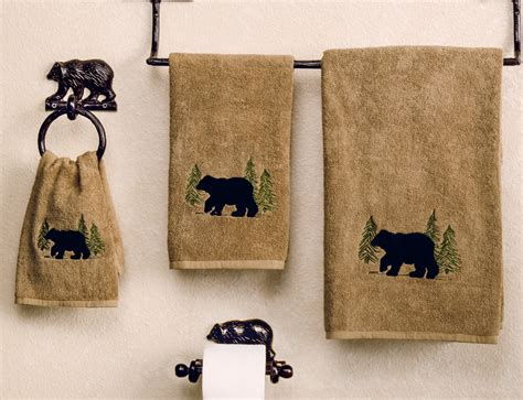 Wall Kitchen Cabinet black bear forest towel collection