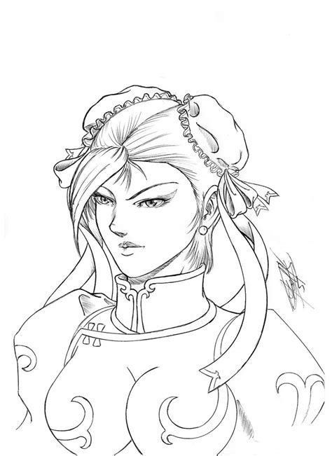 Fighter V Sketches by Fighter Chun Li 02 By Darumaru20 On Deviantart