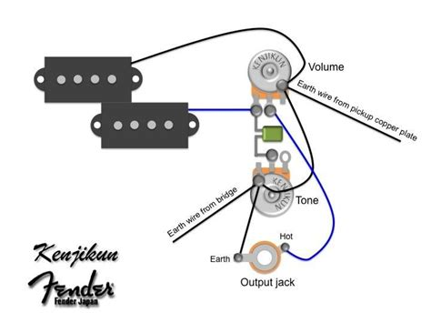 fender precision bass plus wiring diagram circuit and