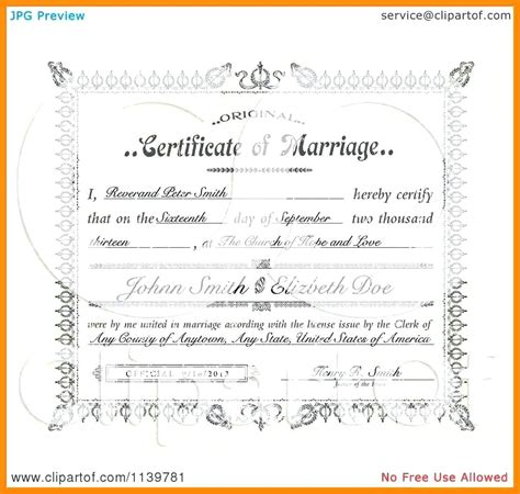 printable marriage certificate template template printable marriage certificate template