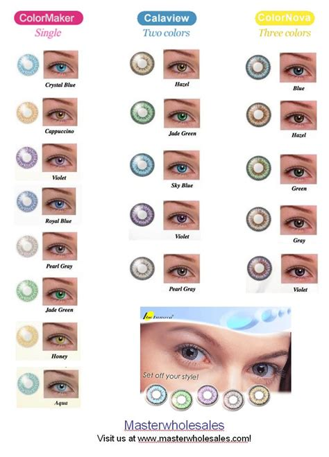 color enhancing contacts contacts color chart luuux fashion color hair