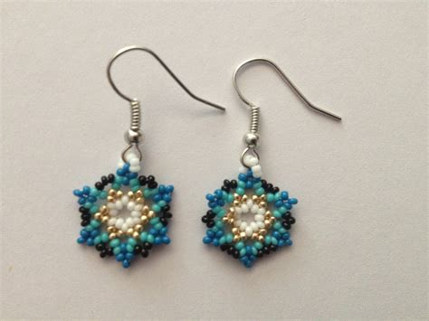 Handmade Beaded Earrings - handmade american beaded earrings