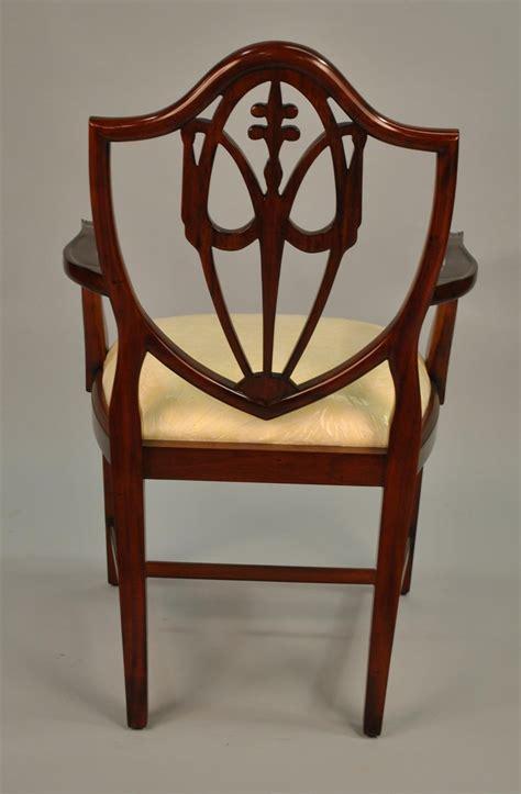 mahogany shield back dining chairs fleur de lis shield